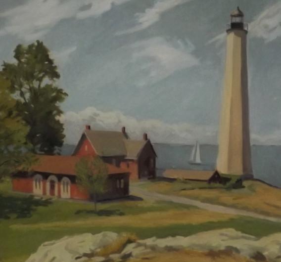 Lighthouse w/Sailboat