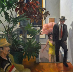 Get the Party Started, oil/linen