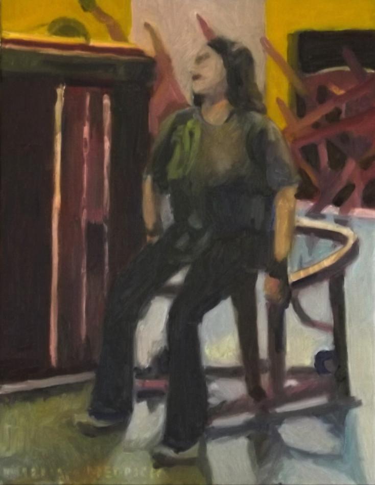 Moaning, oil/linen, 18 x 14