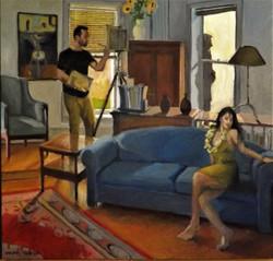 Jealousy, oil/linen, 34 x 34