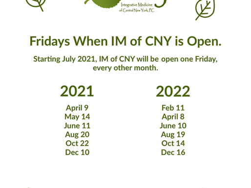 IM of CNY's Friday Schedule