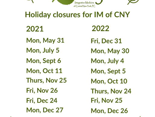 Holiday Closures for IM of CNY 2021 and 2022