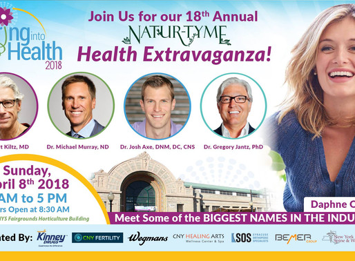 Integrative Medicine of CNY exhibits at the 18th Annual Natur-Tyme Health Extravaganza!