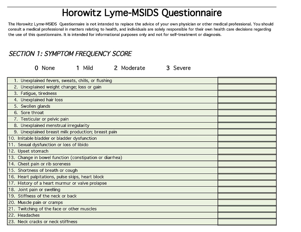 horowitz lyme-msids questionnaire 01 IM of CNY