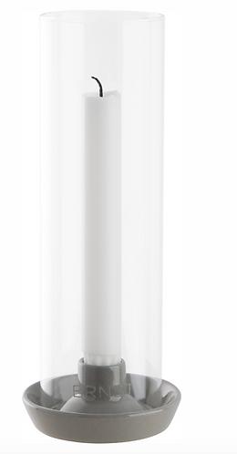 ERNST Kerzenständer mit Glas grau