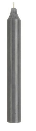Stabkerze grau 18 cm