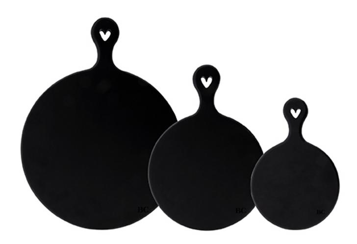 """BC Holzbrett """"BLACK ROUND"""" drei Grössen"""