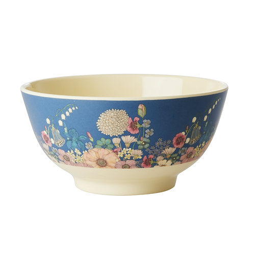 Melamine Bowl Flower Collage Rice