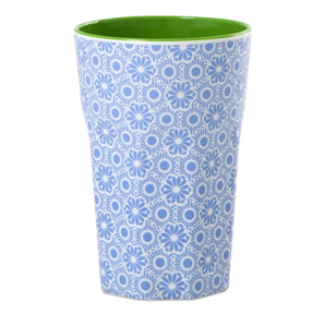 Rice Tall Cup Blue and White