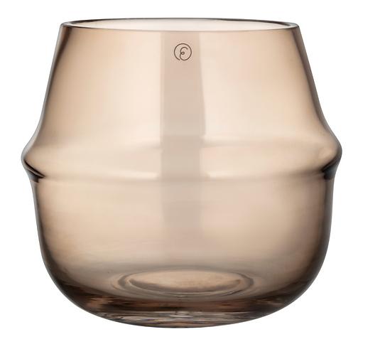ERNST Vase/Kerzenglas braun gross