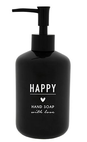"""BC Seifenspender """"HAPPY HAND SOAP"""" schwarz"""