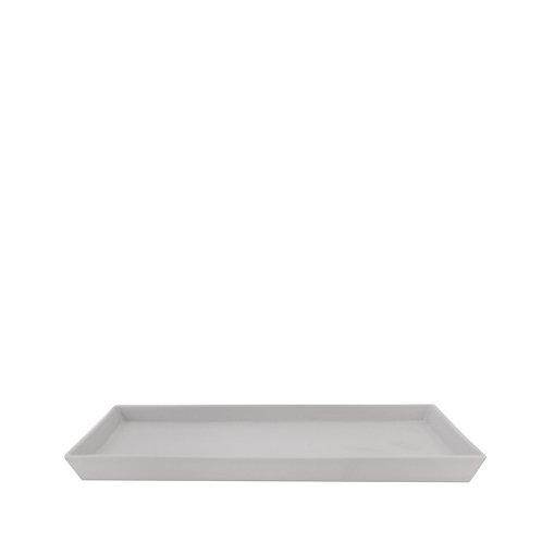 Keramik Tablett LÅNGSAND Grau