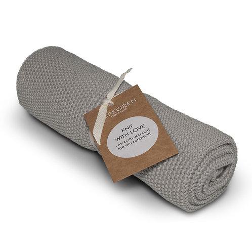 Aspegren Handtuch gestrickt hellgrau