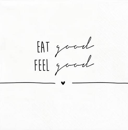 """BC Servietten """"EAT good FEEL good"""""""