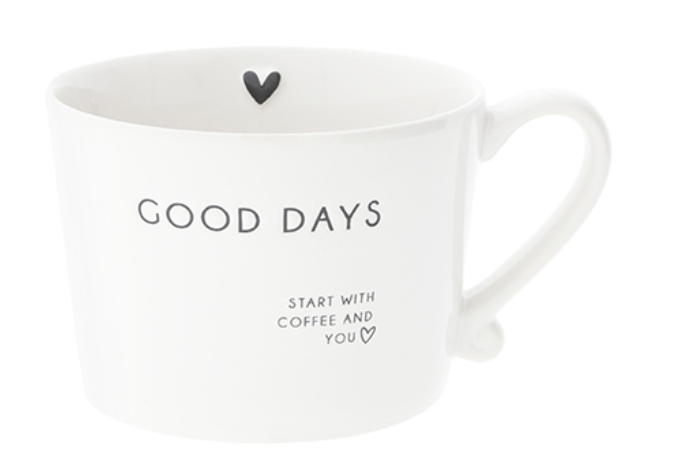 """BC Tasse """"GOOD DAYS START WITH COFFEE AND YOU"""""""