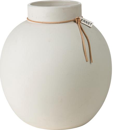 ERNST runde Keramik-Vase weiss