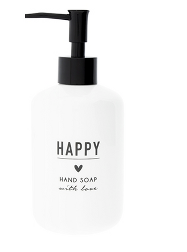 "BC Seifenspender ""HAPPY HAND SOAP"" weiss"