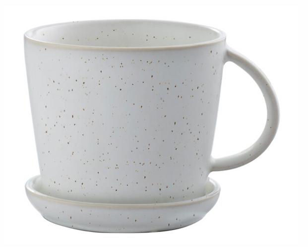 ERNST Tasse mit Unterteller weiss mit Punkten ø 8,5 cm