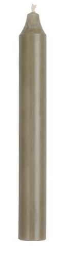 Stabkerze leinengrau 18 cm