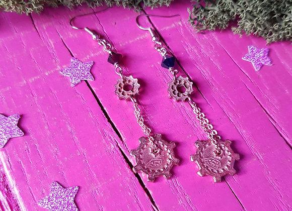 Copper Cog Earrings
