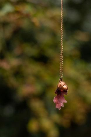 Copper Oak Leaf & Acorn by CRZyBest