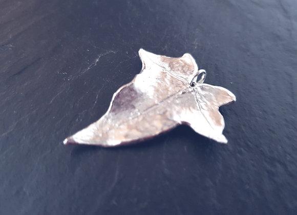 Large Silver Ivy Leaf Necklace