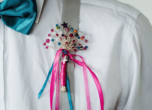 Starry Rainbow Inspired Buttonhole