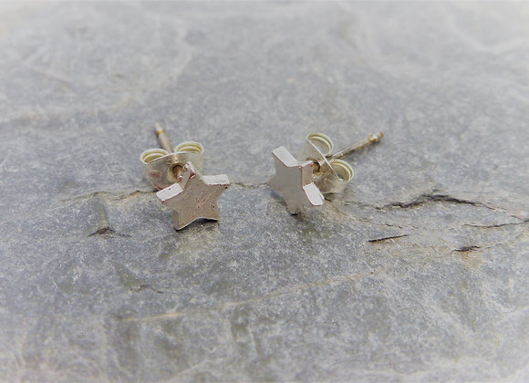Silver Star Stud Earrings
