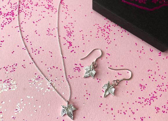 Hop Leaf Earrings in Sterling Silver