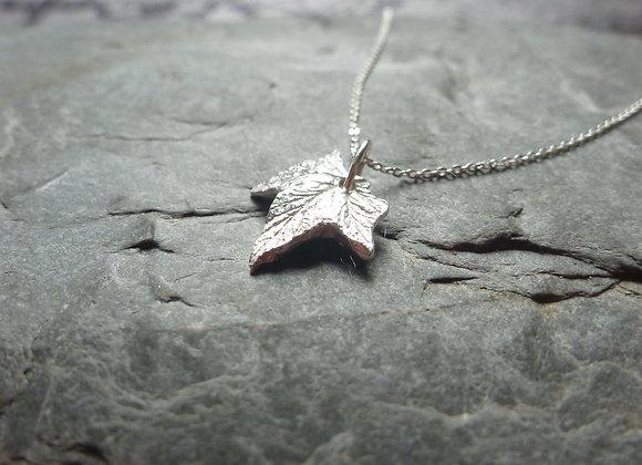Hop Leaf Necklace in Sterling Silver