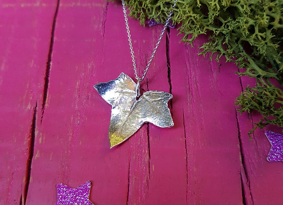 Small Silver Ivy Leaf Necklace
