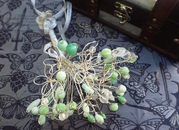 Preciosa Czech Glass Wire Flower Bouquet