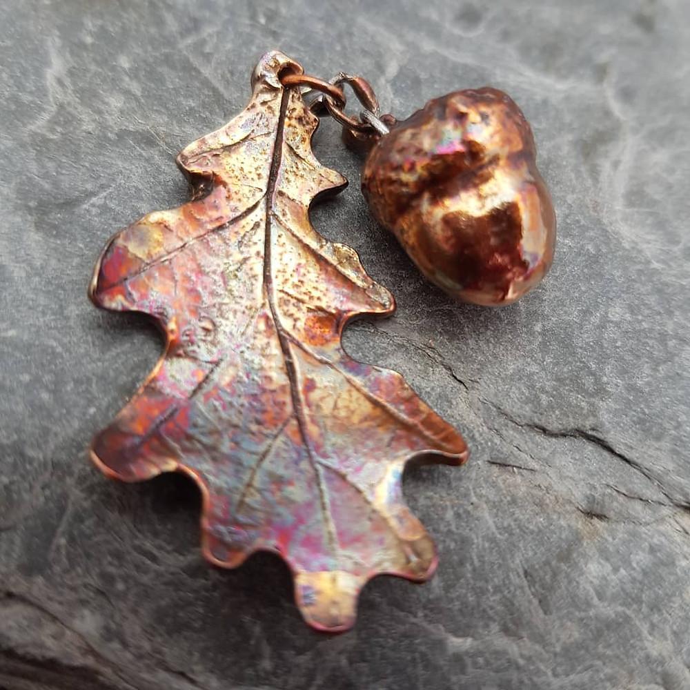 CRZyBest bespoke copper leaves