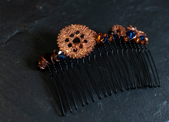 Small Steampunk Hair Comb