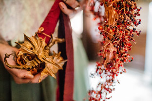CRZyBest Alternative Bouquet, with Copper Dragon Sculptures, Swarovski Crsytals, Semi-precious stones and organic silk ribbon. UWF_by_Rachel_Burt_Photography