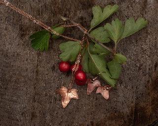 Tiny Copper Ivy Leaf Jewellery by CRZyBe