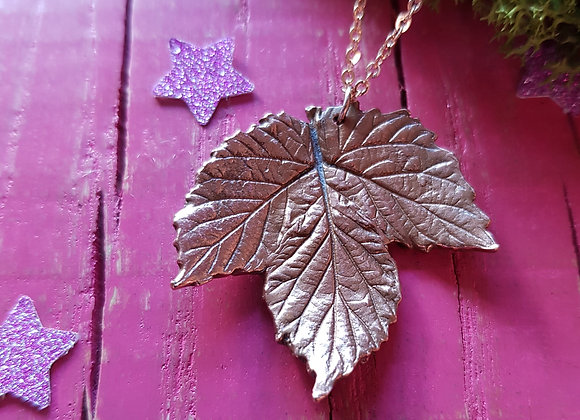 Copper Hop Leaf Pendant