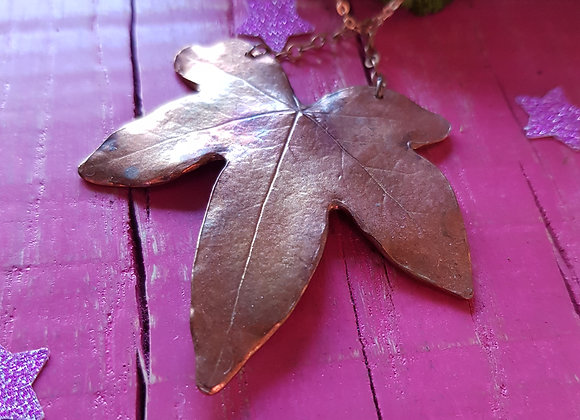 Copper Ivy Leaf Pendant