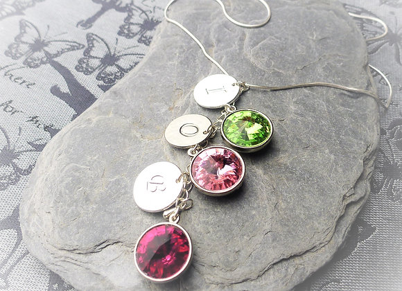Birthstone & Intial Necklace