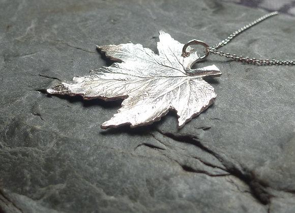Sterling Silver Hop Leaf