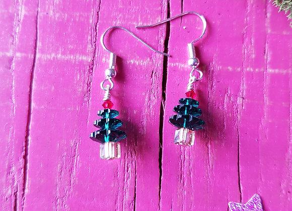 Festive Christmas Tree Earrings