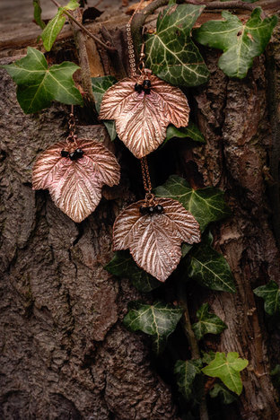 Copper Blackberry Leaf Jewellery by CRZy