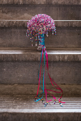 CRZyBest Pink Starry Rainbow Alternative Bouquet, photo by Kirsty Rockett