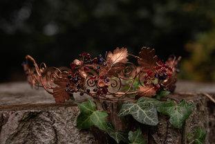 Oak Leaf & Acorn Autumn Crown by CRZyBes