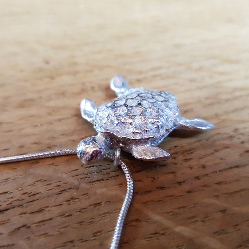Bespoke Silver Turtle Sculpture, by CRZyBest