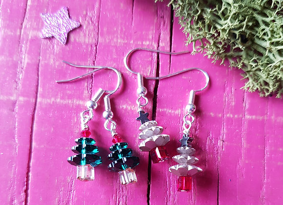 Lucky Dip Christmas Tree Earrings