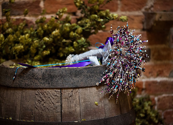 Completely Customised, Alternative Creative Bespoke Wedding Bouquet