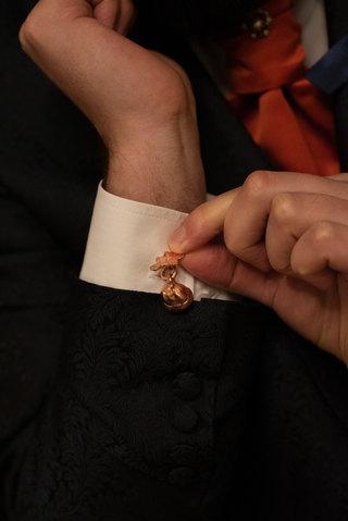 Copper Acorn & Oak Leaf Cufflinks by CRZ