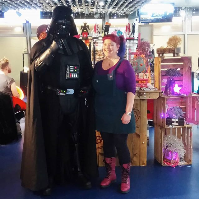 CRZyBest & Darth Vader at The National Space Centre
