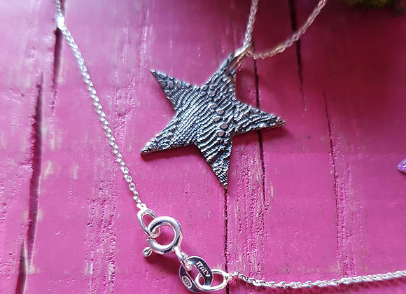 Textured Silver Star